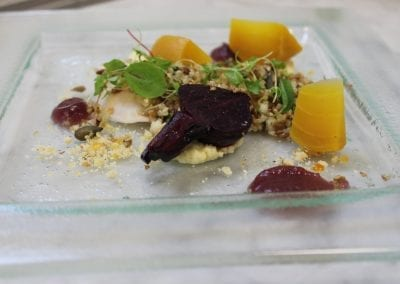 young-buck-blue-cheese-mousse-beetroot-candied-walnutsd-pear-and-seed-quinoa