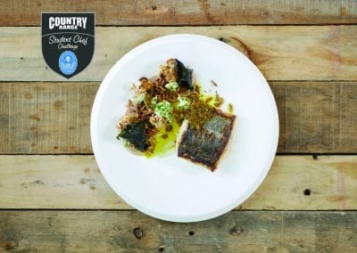 City of Glasgow College Main - Seared North Sea Coley, Cauliflower; Roast, Pureed & Marinated, Seaweed, Vadouvan Butter