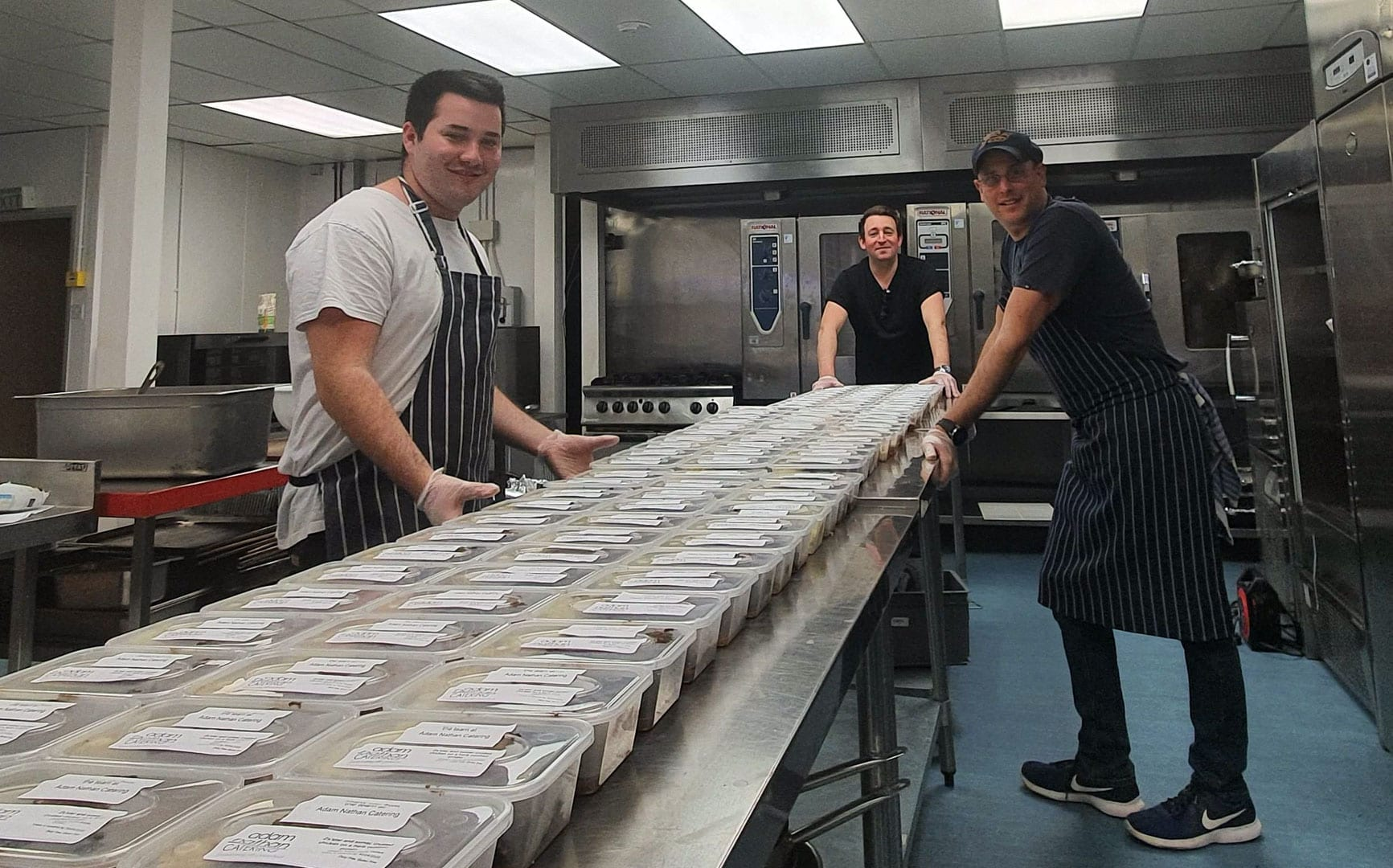 Benji and some of the meals produced for the NHS