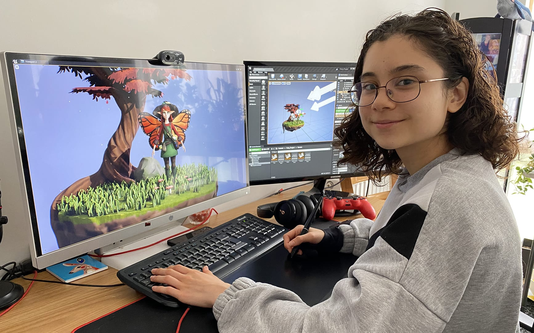 Games and Animation student