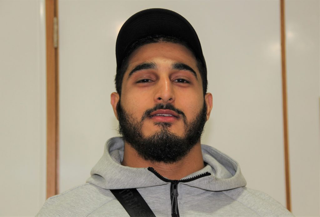 Elias Hashemi, who passed A Levels in Maths, Chemistry and Biology.