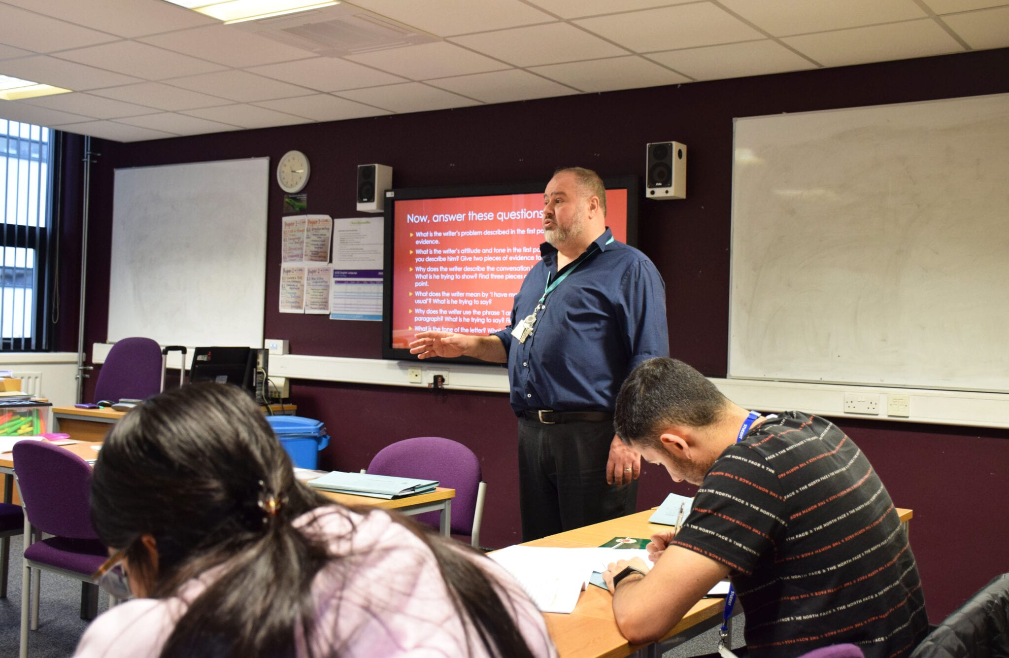 GCSE English Teaching speaking to a class full of students