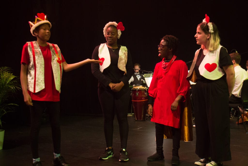 Children in the Angel Shed Theatre Company